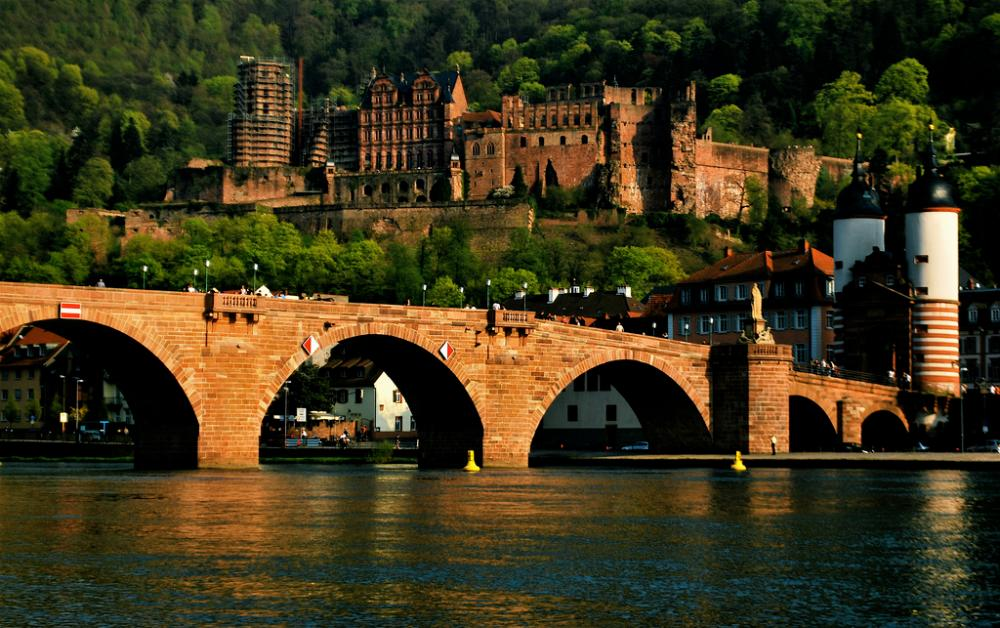 View of Heidelberg with castle
