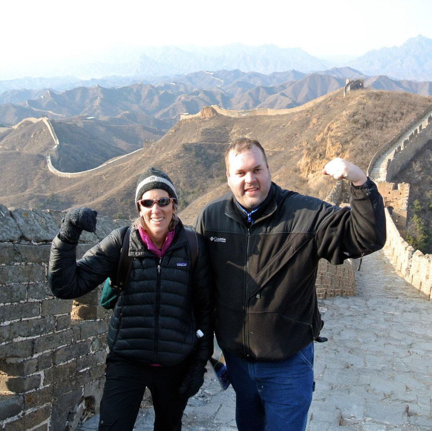 Bonnie and Aaron Great Wall