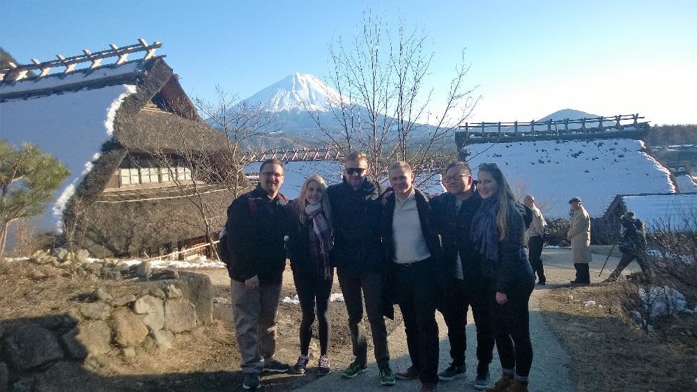 J17 students with Fuji
